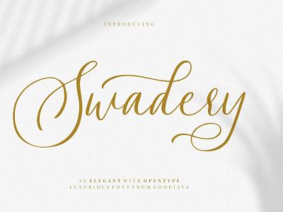 Free Swadery Script Font script print ready post pen otf natural modern marker logo ligature handwritten hand font exclusive design creative craft cool art alternative