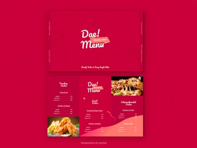 Free Trifold Restaurant Menu Template