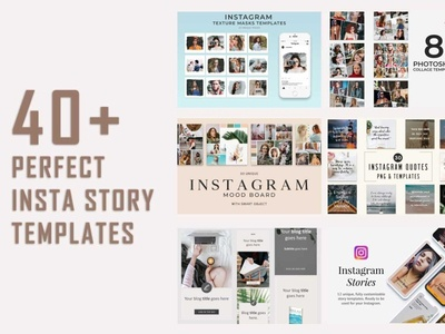 40+ Perfect Instagram Post & Story Templates 2020