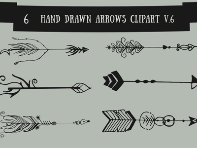 Free Handmade Arrows Cliparts V.6 trendy template symbol sign retro nature line leaf label key icon graphic frame flower floral flat emblem element design abstract