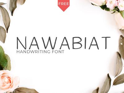 Free Nawabiat Handwriting Font script print ready post pen otf natural modern marker logo ligature handwritten hand font exclusive design creative craft cool art alternative