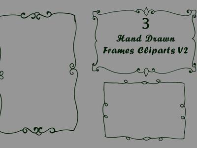 Free Handmade Frames Cliparts V.2 illustration wedding vintage victorian royal retro leaves leaf invitation griffin frame floral emblem design celebration card border background abstract