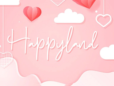 Free Happyland Script Font script painted paintbrush paint marker informal hipster heavy handwritten handwriting handmade font fancy elegant cursive cool contemporary connected clean bold