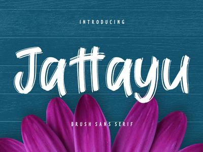 Free Jattayu Brush Font script print ready post pen otf natural modern marker logo ligature handwritten hand font exclusive design creative craft cool art alternative