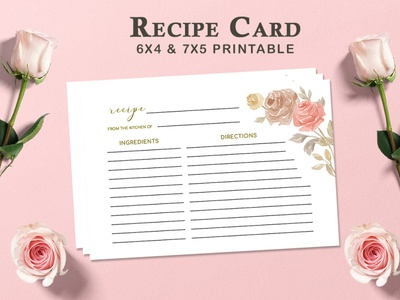Free Recipe Card Printable Template V.1 paper page objects menu hug greeting good friendly food eat drink design concept colorful cheerful card call cake book beverage