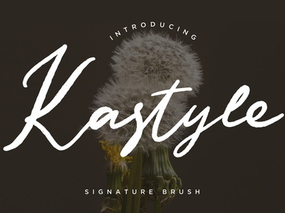 Free Kastyle Signature Brush Font sans serif printed print poster modern lettering inked ink hipster font family fashion dry brush display fonts display cursive cool classy brush font brush bold