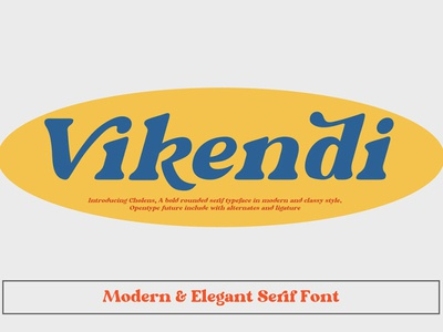 Free Vikendi Serif Font sans serif printed print poster modern lettering inked ink hipster font family fashion dry brush display fonts display cursive cool classy brush font brush bold