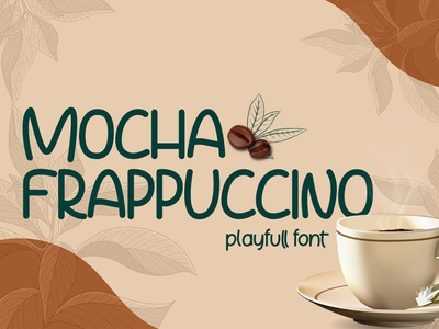 Free Mocha Frappuccino Playfull Font made inline handmade hand grunge grafiti dreams dream display crafted brush bold font ui branding logo art illustration design modern