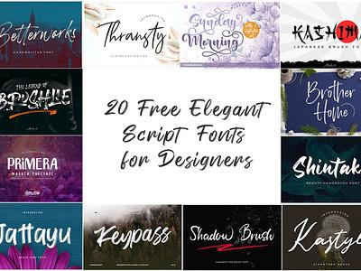 20 Free Elegant Script Fonts for Designers ( Stylish Fonts ) vintage swash stylish rough poster newyear modern logotype letter holiday header handwriting handmade display brush