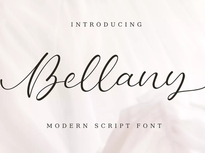 Free Bellany Script Font photography modern minimalist logo ligature invitation handwritten handlettering gorgeous fresh feminine fancy elegant couple clean calligraphy business branding bestseller beauty