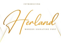 Free Herland Signature Font photography modern minimalist logo ligature invitation handwritten handlettering gorgeous fresh feminine fancy elegant couple clean calligraphy business branding bestseller beauty