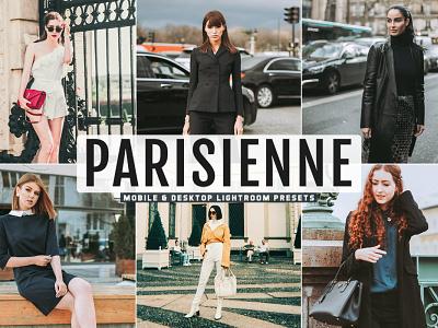 Free Parisienne Mobile & Desktop Lightroom Presets pro preset premium portrait photography photo outdoor modern lightroom light good glamour fashion edit colorful color collection bright beauty adobe