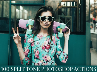 100 Split Tone Photoshop Actions photoshop photography photo manipulation photo effects photo image effect image editing atn artwork advanced add on action
