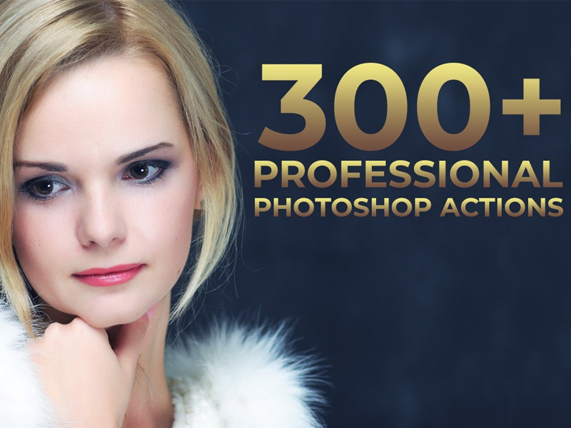 300+ Professional Photoshop Actions Bundle by Faraz Ahmad