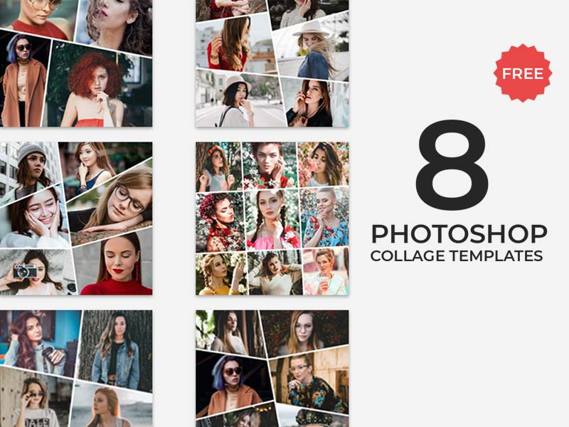 Psd collage templates.