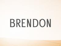 Brendon Sans Serif Font Family Free Download
