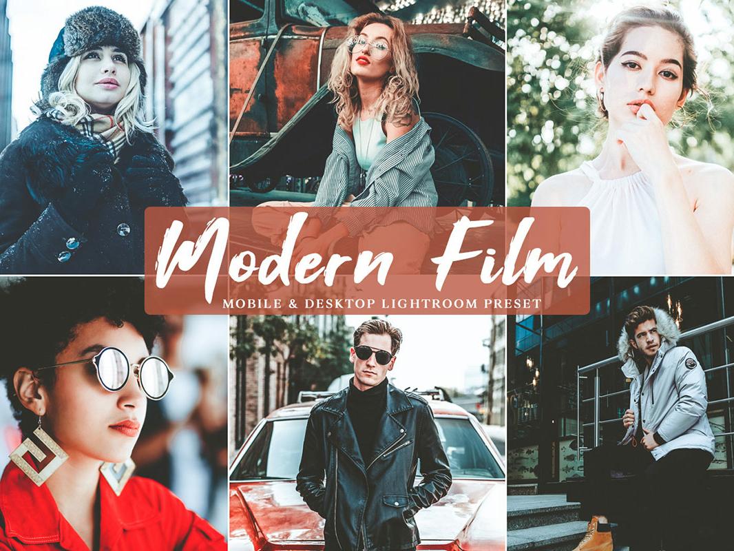 Free Modern Film Mobile and Desktop Lightroom Preset by