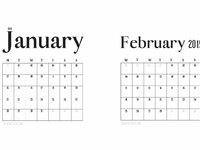 Free printable minimal calendar 2019 post