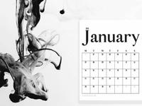 Free Printable Minimal Calendar 2019