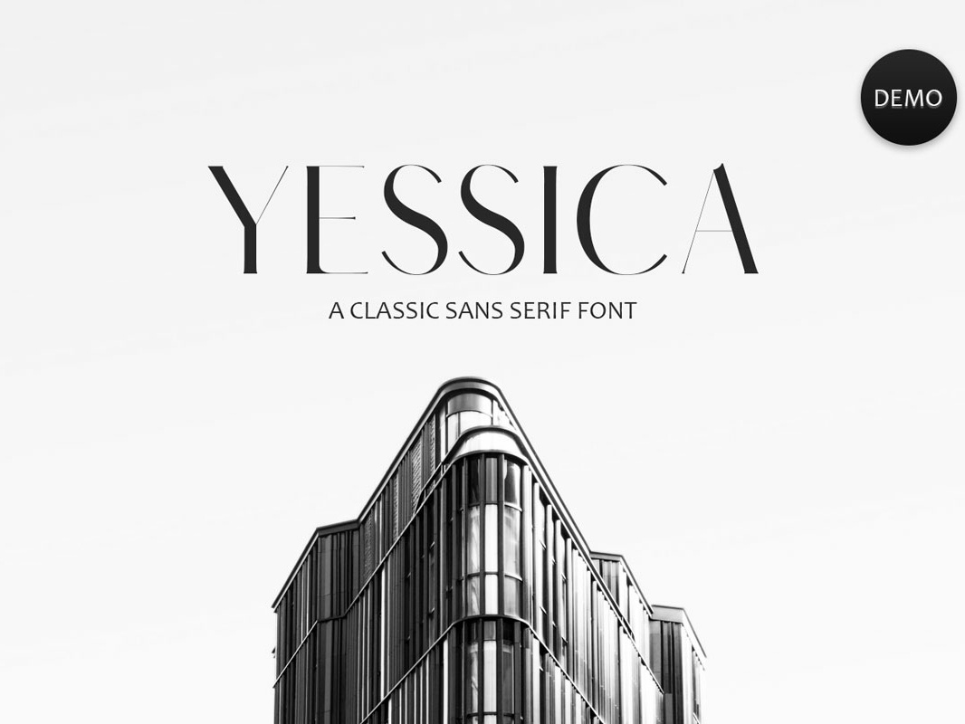 Free Yessica Sans Serif Font cute fonts hand-lettered fonts ttf stylish strict sophisticated sant-serif regular otf office neat modern minimalist light for print clean business book wedding fonts logo fonts