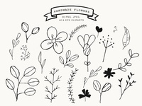 Free Handmade Flowers Cliparts Vol.1