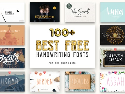 100+ Beautiful Free Handwriting Fonts For Designers 2019