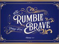 Free rumble brave display font