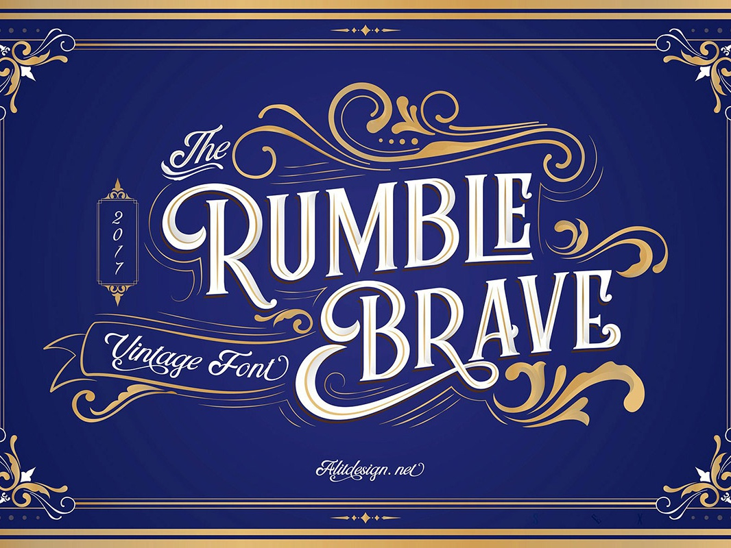 Rumble Brave Display Font For Free by Faraz Ahmad on Dribbble