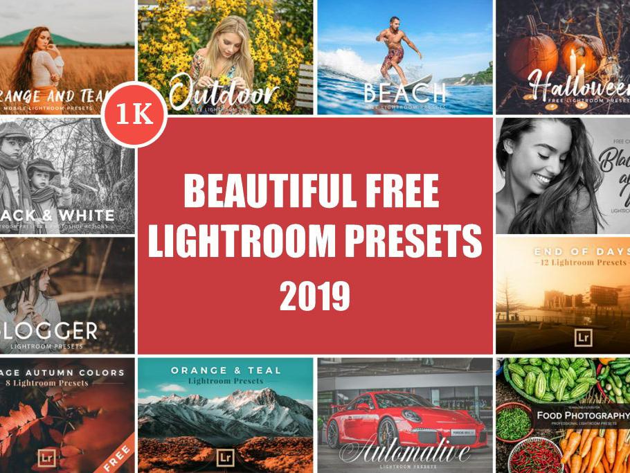 1000 Beautiful Free Lightroom Presets 2019 by Faraz Ahmad on Dribbble
