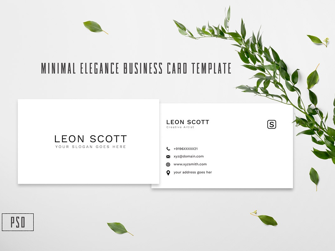 Free Minimal Elegance Business Card Template postcard personal card personal office modern minimal horizontal gold elegant design creative corporate company clean ceyozer card business card business blue black