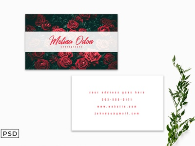 Free Minimal Floral Business Card Template handwriting fonts wedding fonts visiting card stationary simple psd professional print ready personal ms word identity elegant editable double sided designpark corporate business card branding brand ai