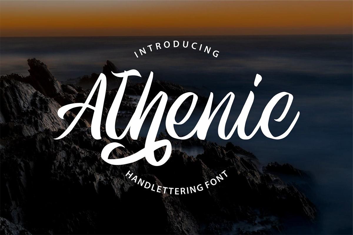 Free athenic clean script font
