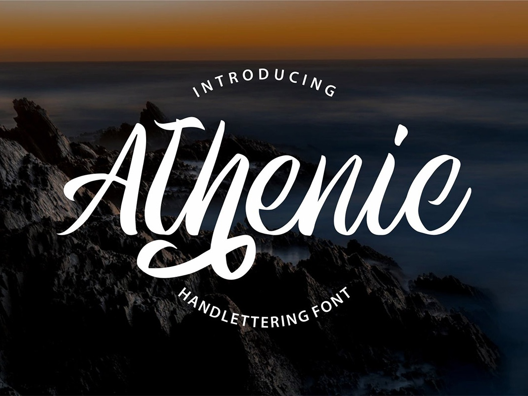Free Athenic Clean Script Font typeface painted paintbrush paint marker informal hipster heavy handwritten handwriting handmade font fancy elegant cursive cool contemporary connected clean bold