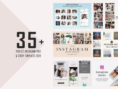 30+ Best Instagram Post Story Templates 2019