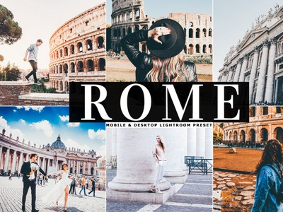 Free Rome Mobile Desktop Lightroom Preset