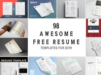 100+ Awesome Free Resume Templates for 2019