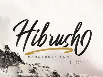Free Hibrush Handbrush Font