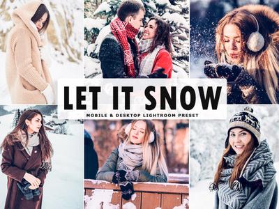 Free Let It Snow Mobile & Desktop Lightroom Preset