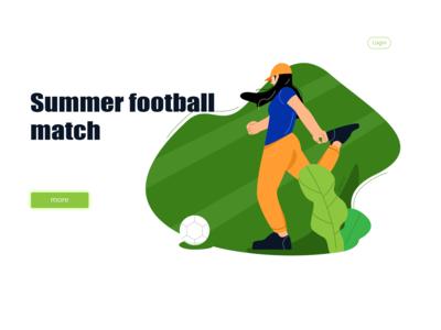 summer football match