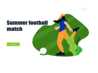 summer football match