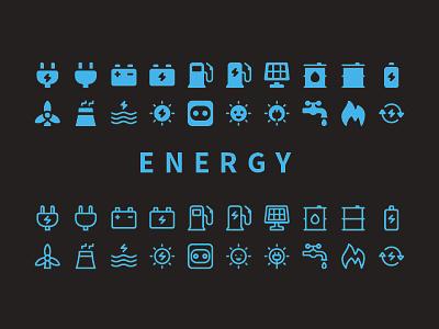 Jumpicon - Energy Icon set icons design electric power jumpicon energy perfect pixel icon