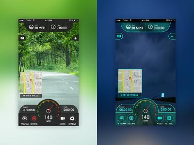 DashCam app dashboard camera design. app design car on-dash video mobile app car dashboard camera car dash camera hidden car camera dash camera