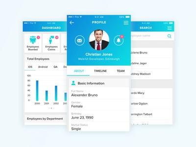 HRMS Dashboard Mobile App