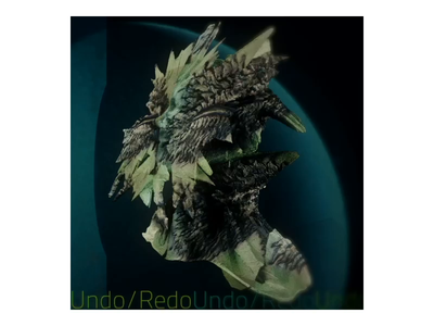 Undo / Redo spin rotate 3d animation type spacebubble sculpture render photorealistic mask lizard frilled operatic uranus illustration c4d bust applepencil ambient ae 3d
