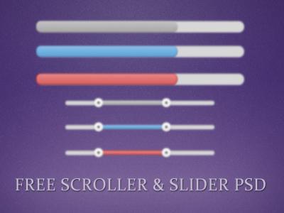 Scroller slider thumb