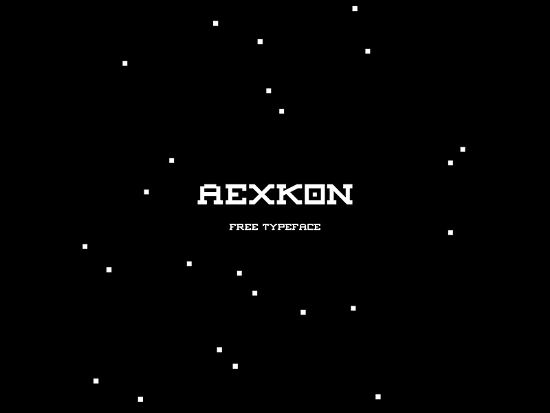 AEXKON | free typeface graphic design free typeface typography font
