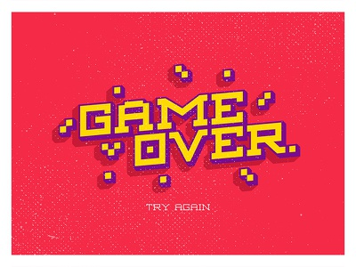GAME OVER graphic design free typeface typography font