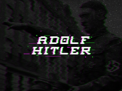 Adolf Hitler typography graphic design free typeface font