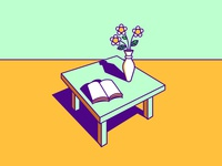 still life composition color graphic design illustration still life