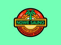 Ngwe Saung myanmar graphic design illustration mmbadgedesign badge design
